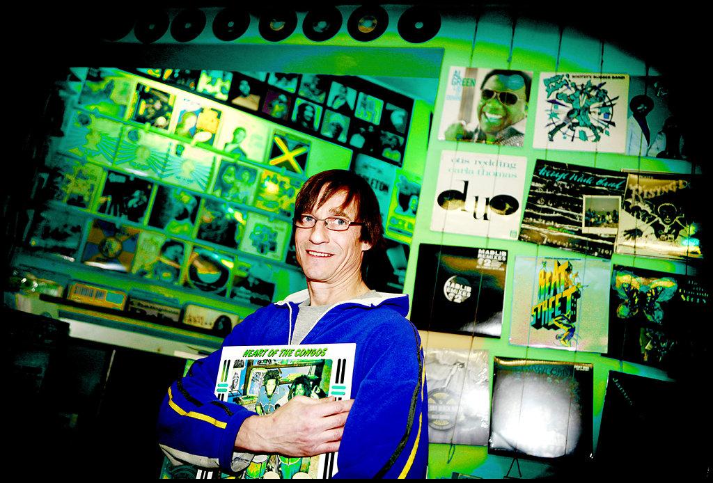 Arlequin Music shop owner